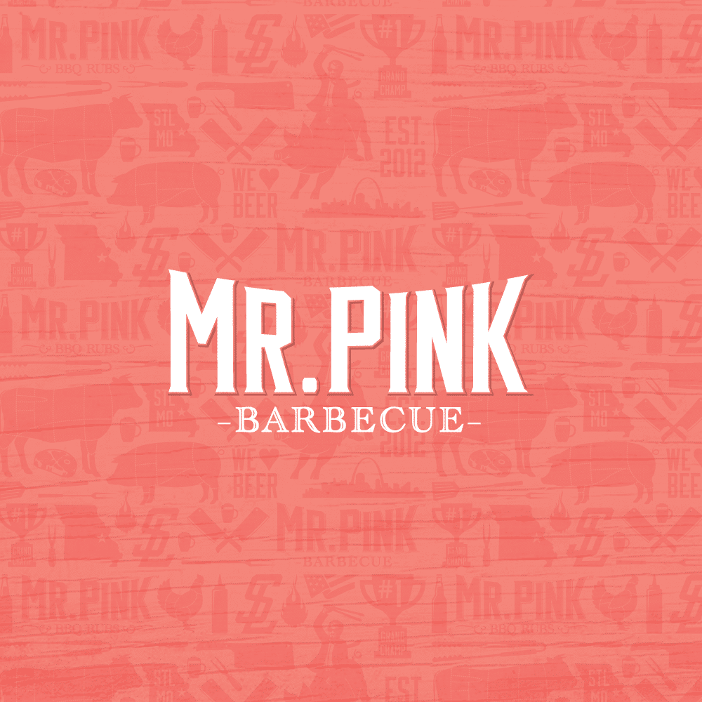 Mr. Pink BBQ secondary logo mark