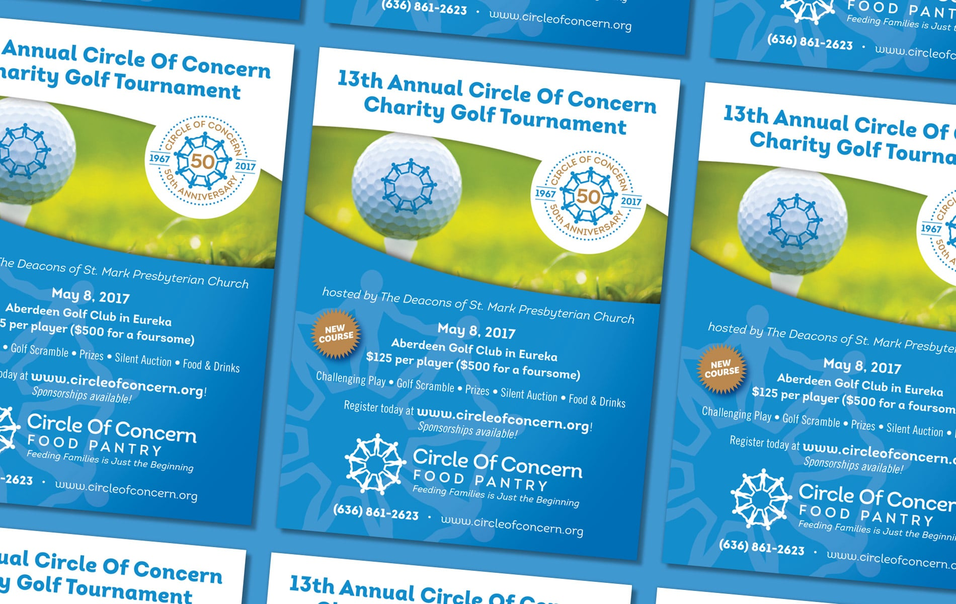 Circle Of Concern golf ad design