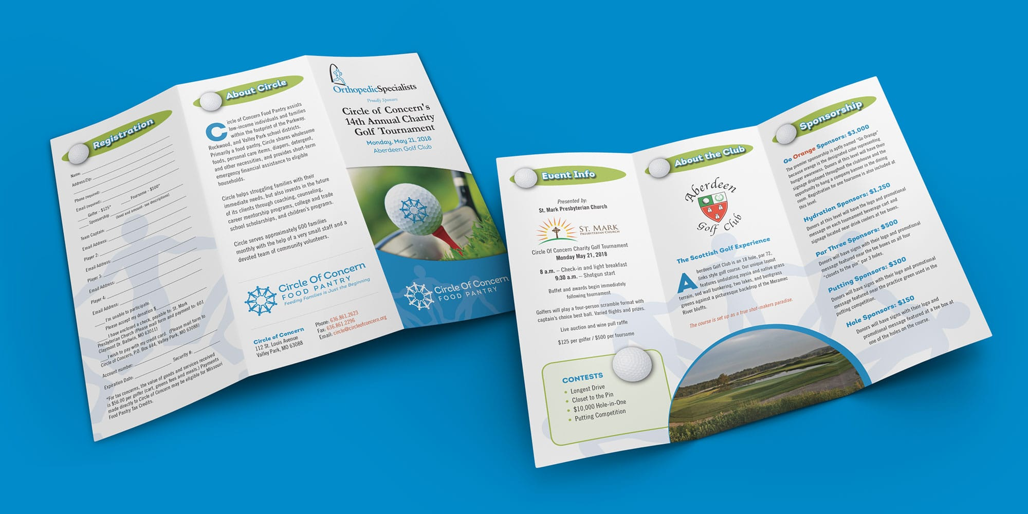 COC Golf Trifold Brochure Design