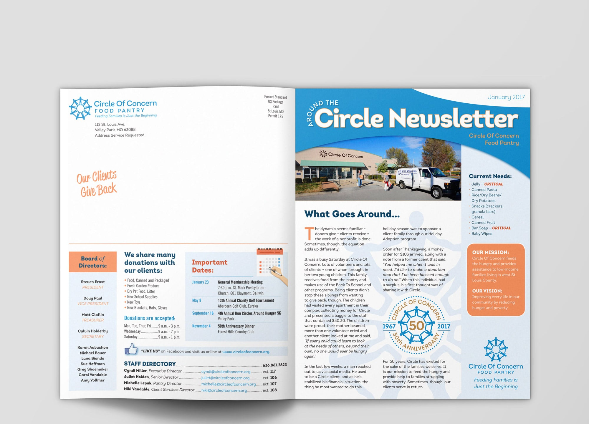 Circle Of Concern Newsletter front