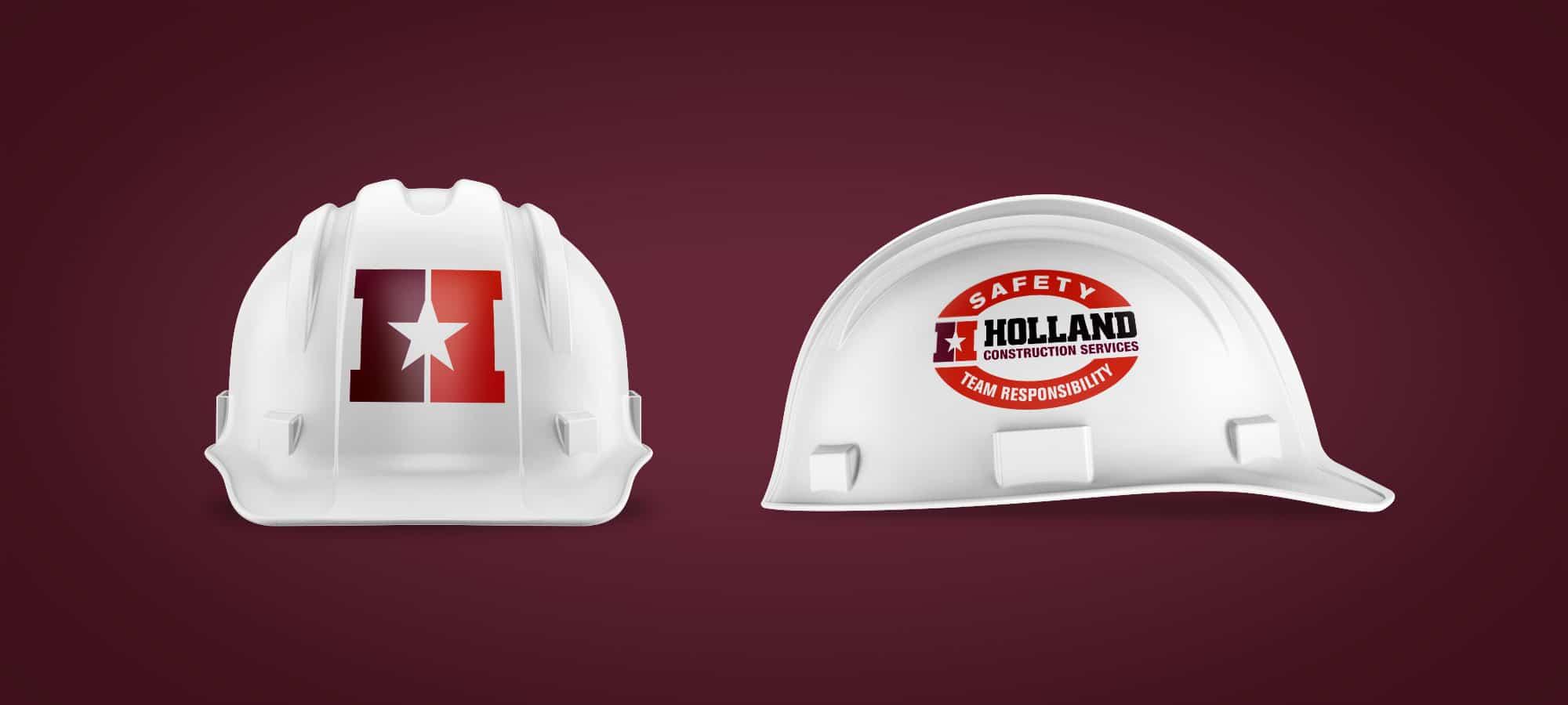 Holland Construction Hard Hat Design