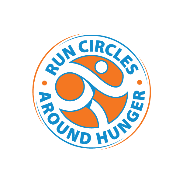 Run Circles Around Hunger Logo design option