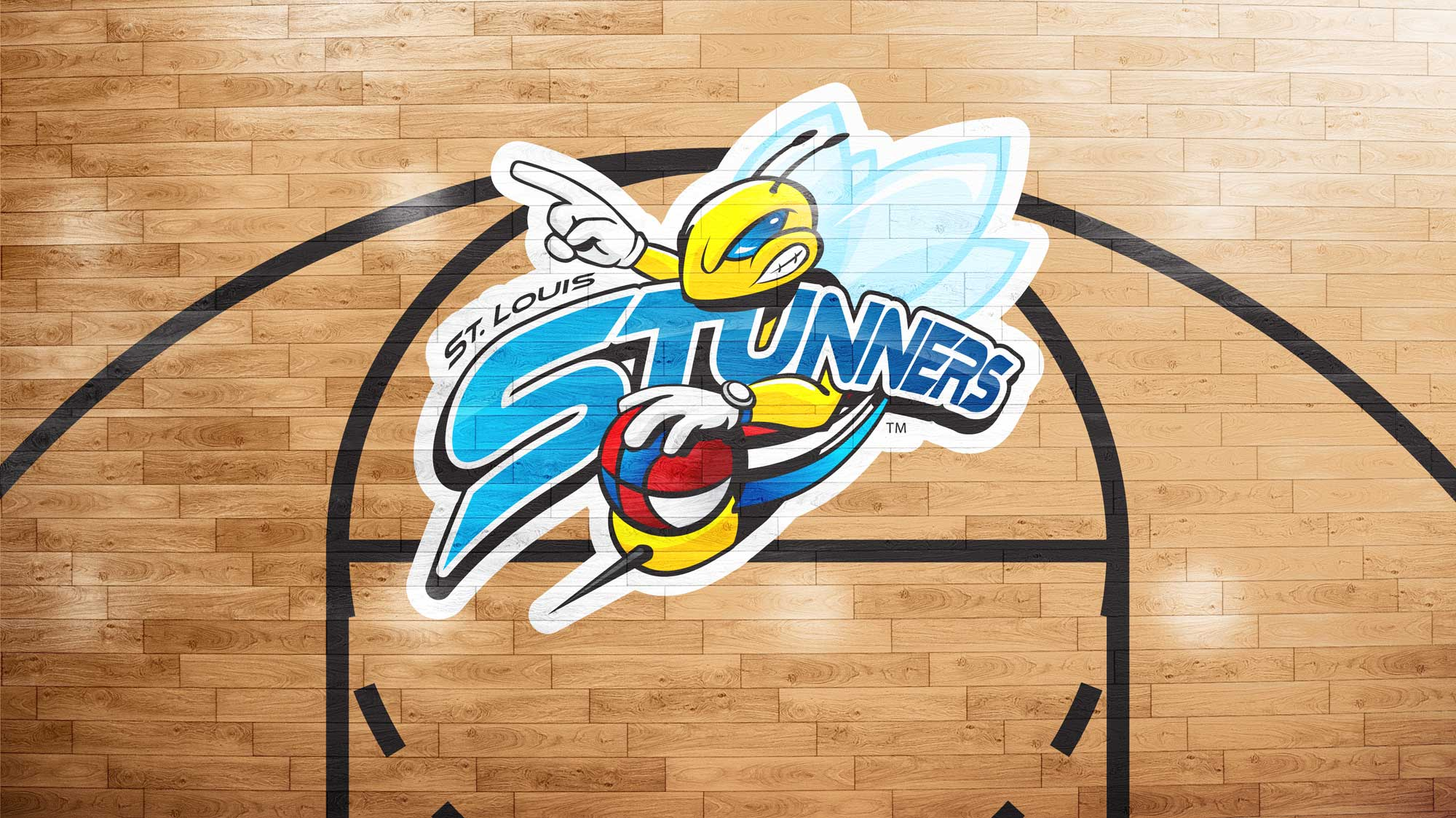 Stunners Basketball Court Logo