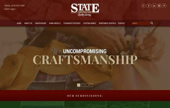 State Construction Website Design