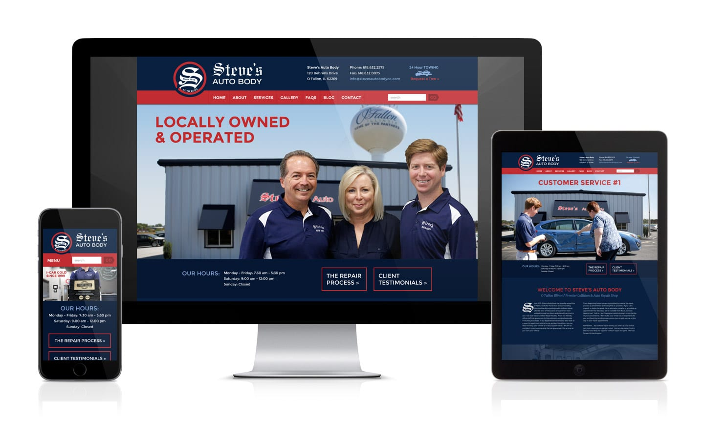 Steve's Auto Body Website