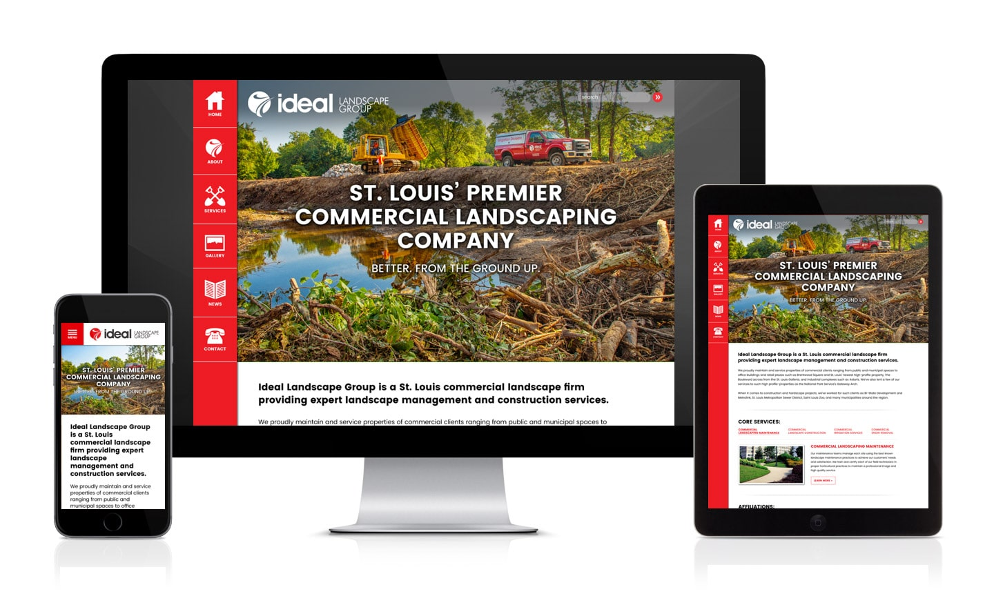 Ideal Landscape Website