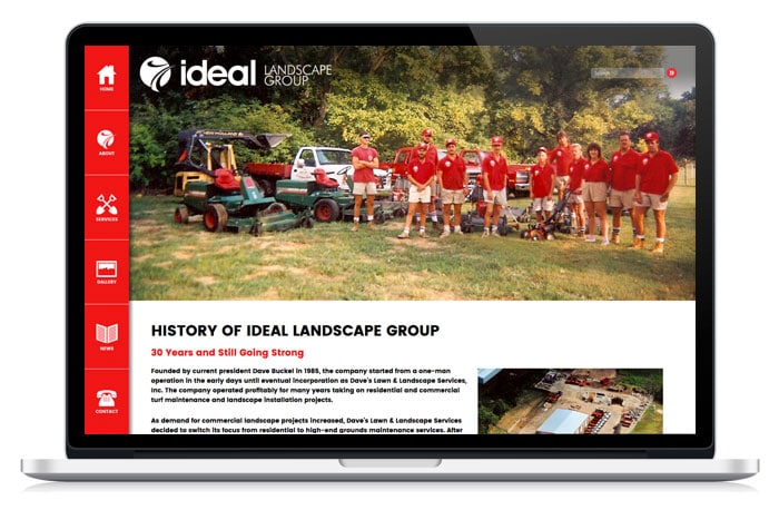Ideal Landscape Group Website Laptop
