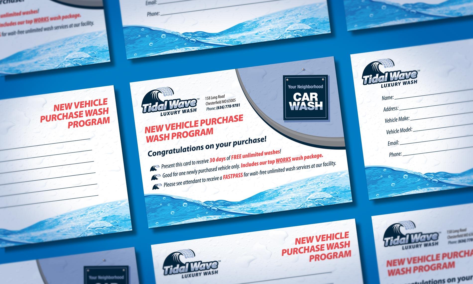 Tidal Wave Promo Card design