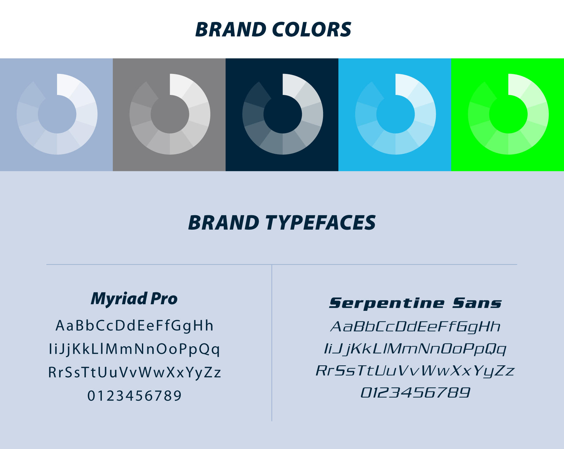 TidalWave branding colors and typefaces