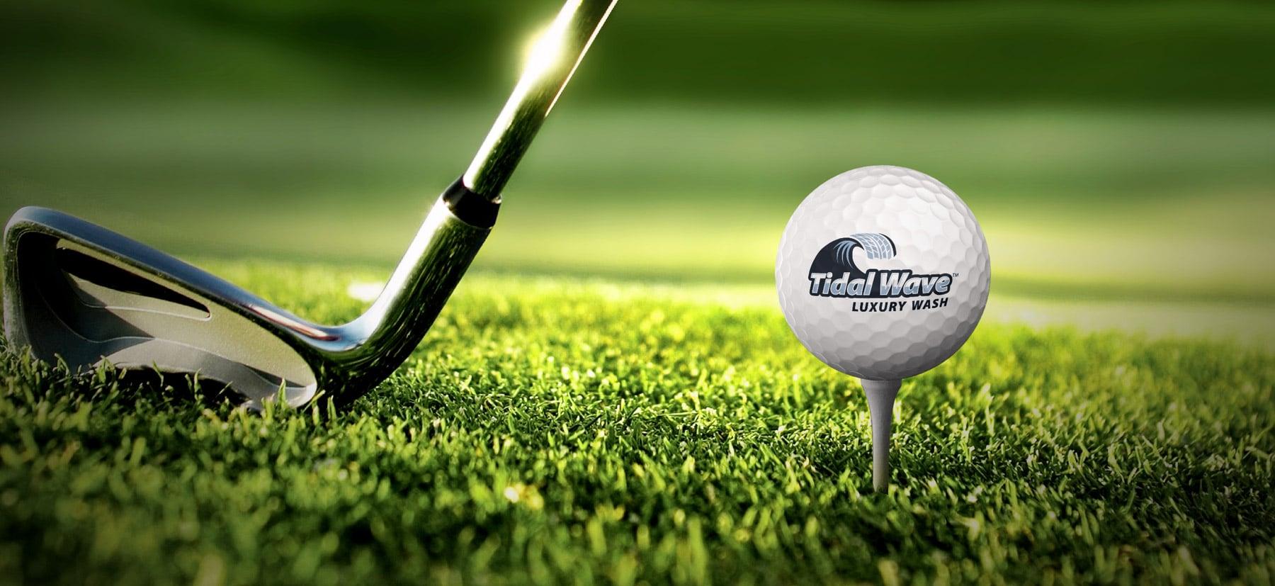 TidalWave golfball design branding