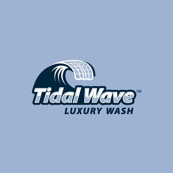 Tidal Wave logo Blue BG