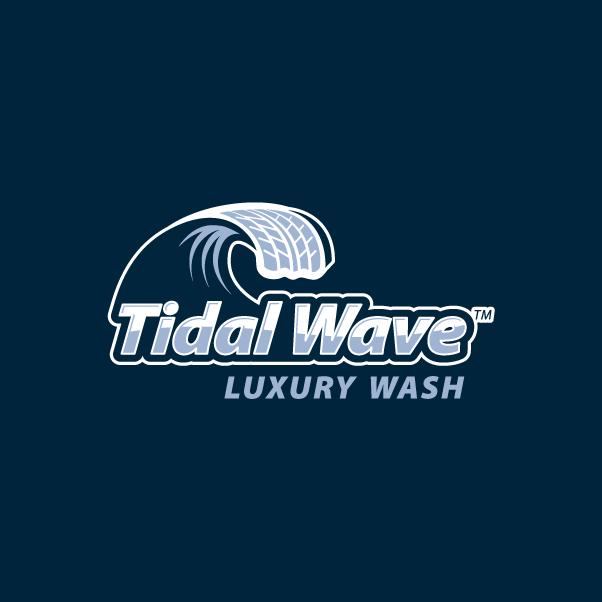Tidal Wave logo Dark Blue BG