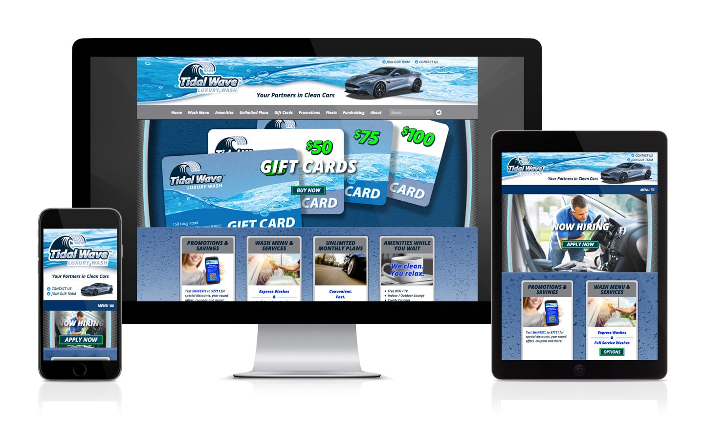 Tidal Wave Car Wash Website