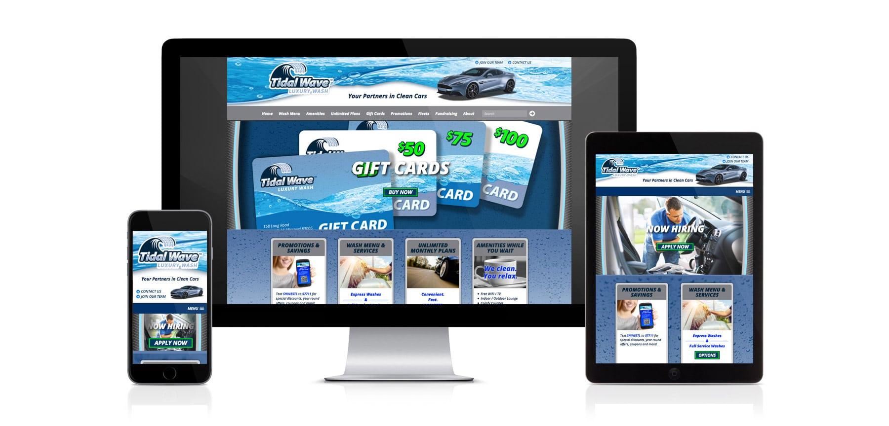 TidalWave website design branding