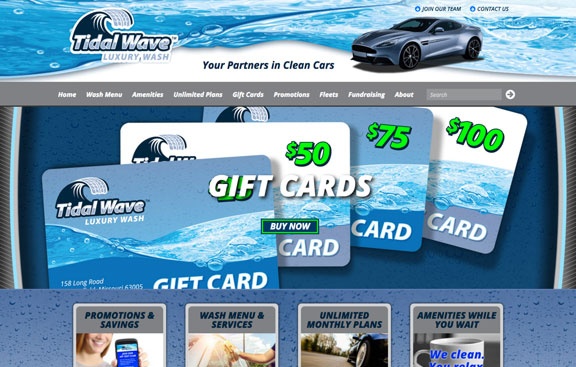 Tidal Wave Car Wash WordPress web design