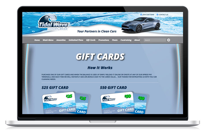 Tidal Wave Car Wash WordPress website