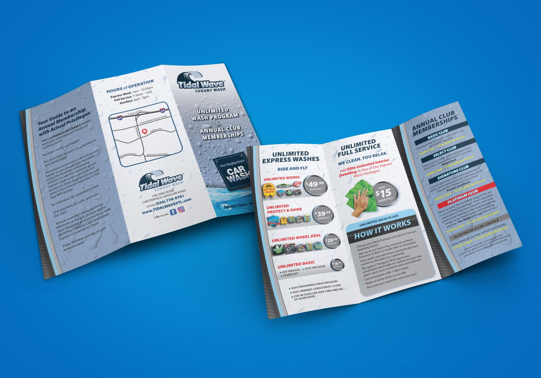 Tidal Wave Trifold Brochure design
