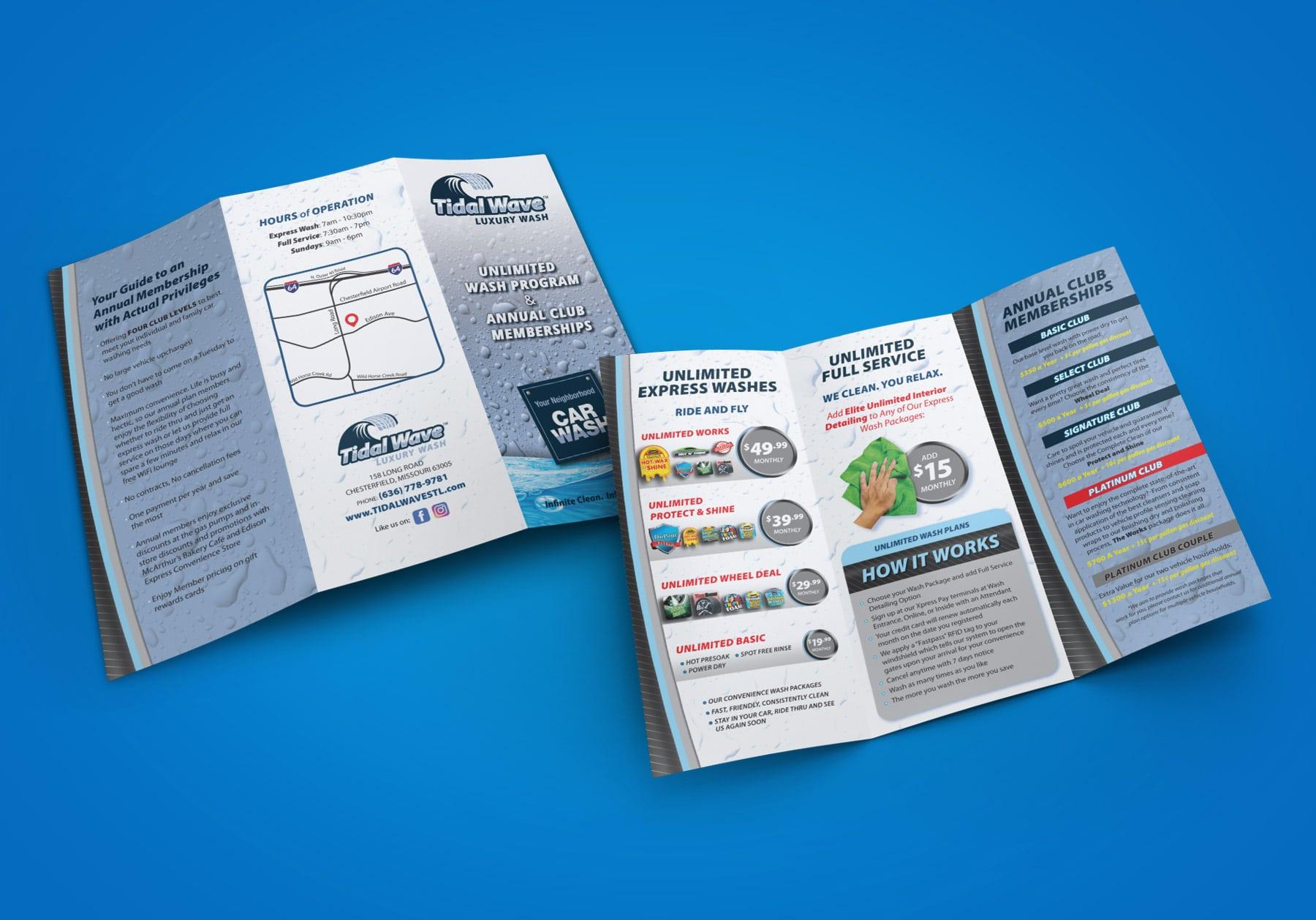 Tidal Wave Trifold Brochure design