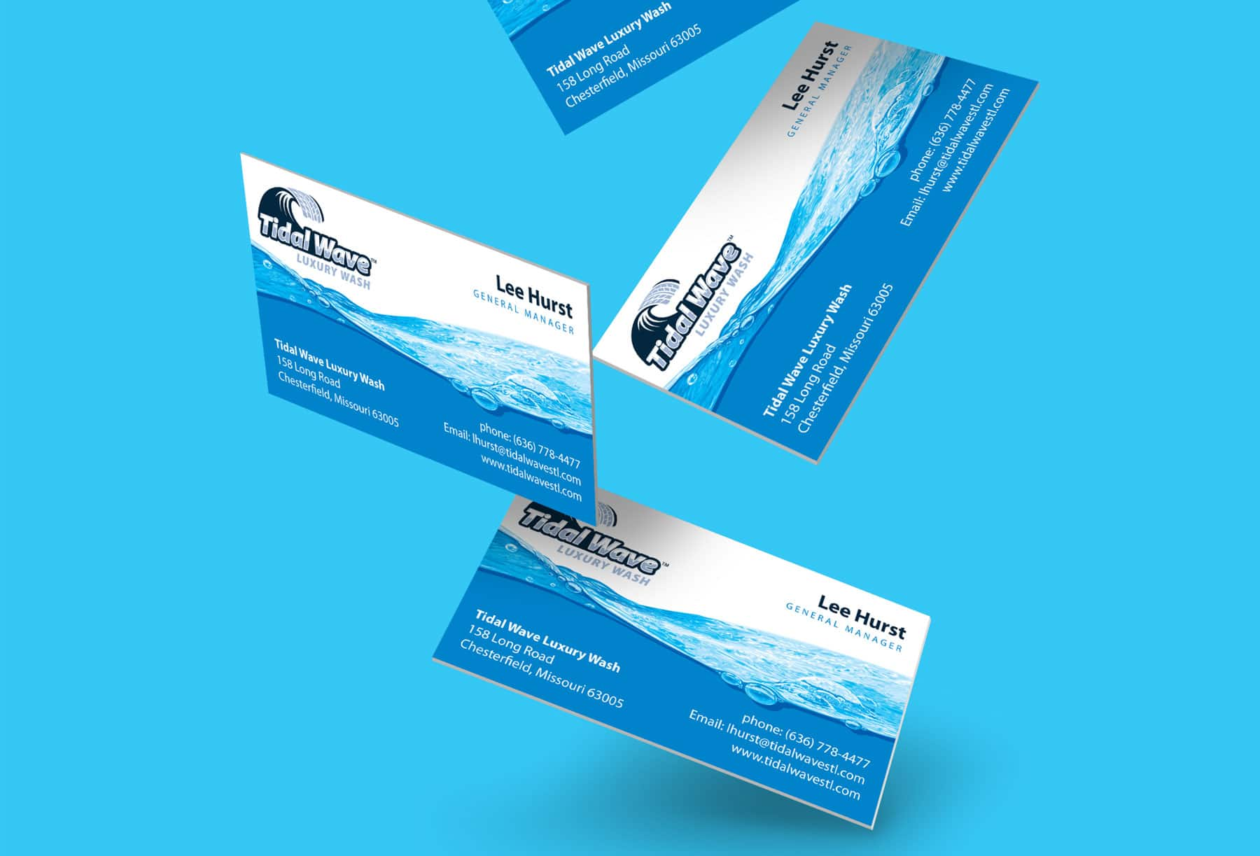 Tidal Wave business card design