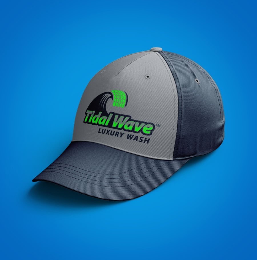 Tidal Wave baseball hat design