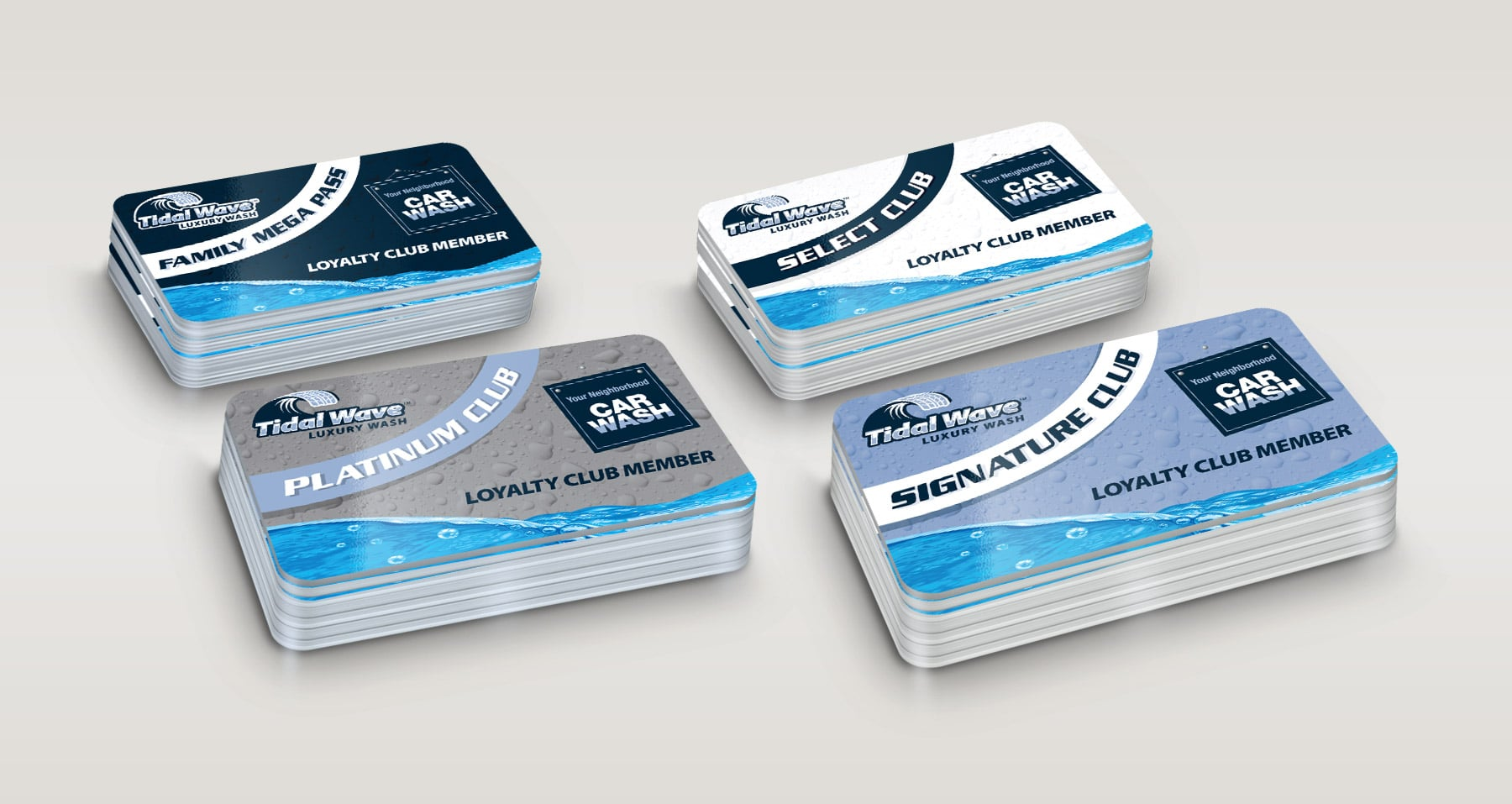 Tidal Wave Loyalty Card designs