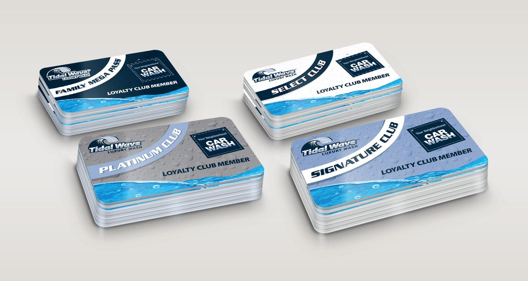 Tidal Wave Loyalty Card designs