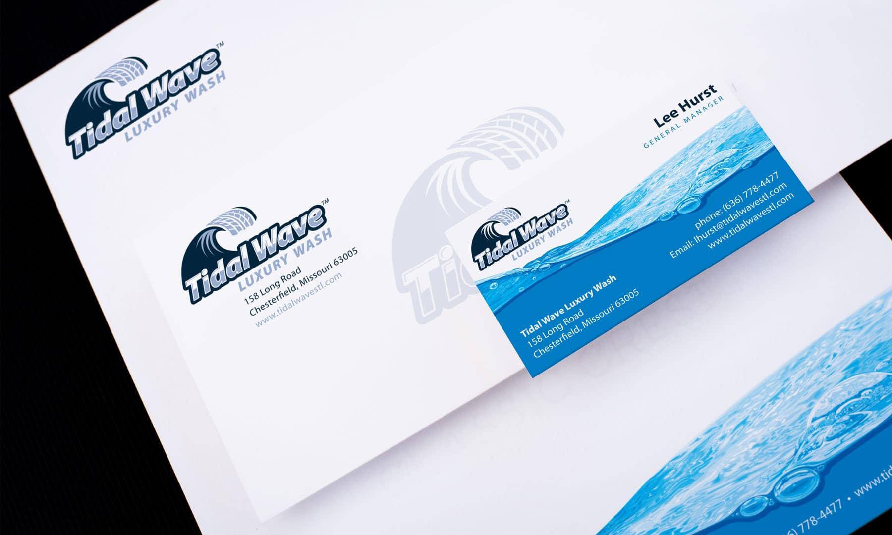 Tidal Wave Letterhead design branding