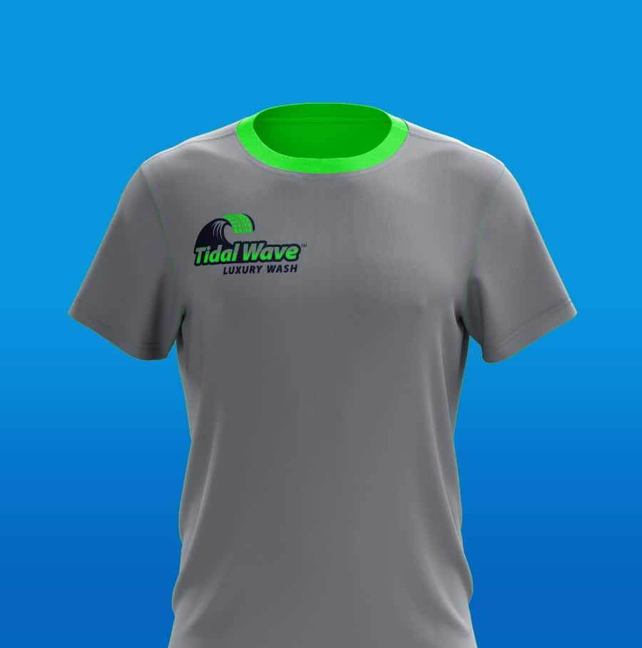 Tidal Wave brand t-shirt design