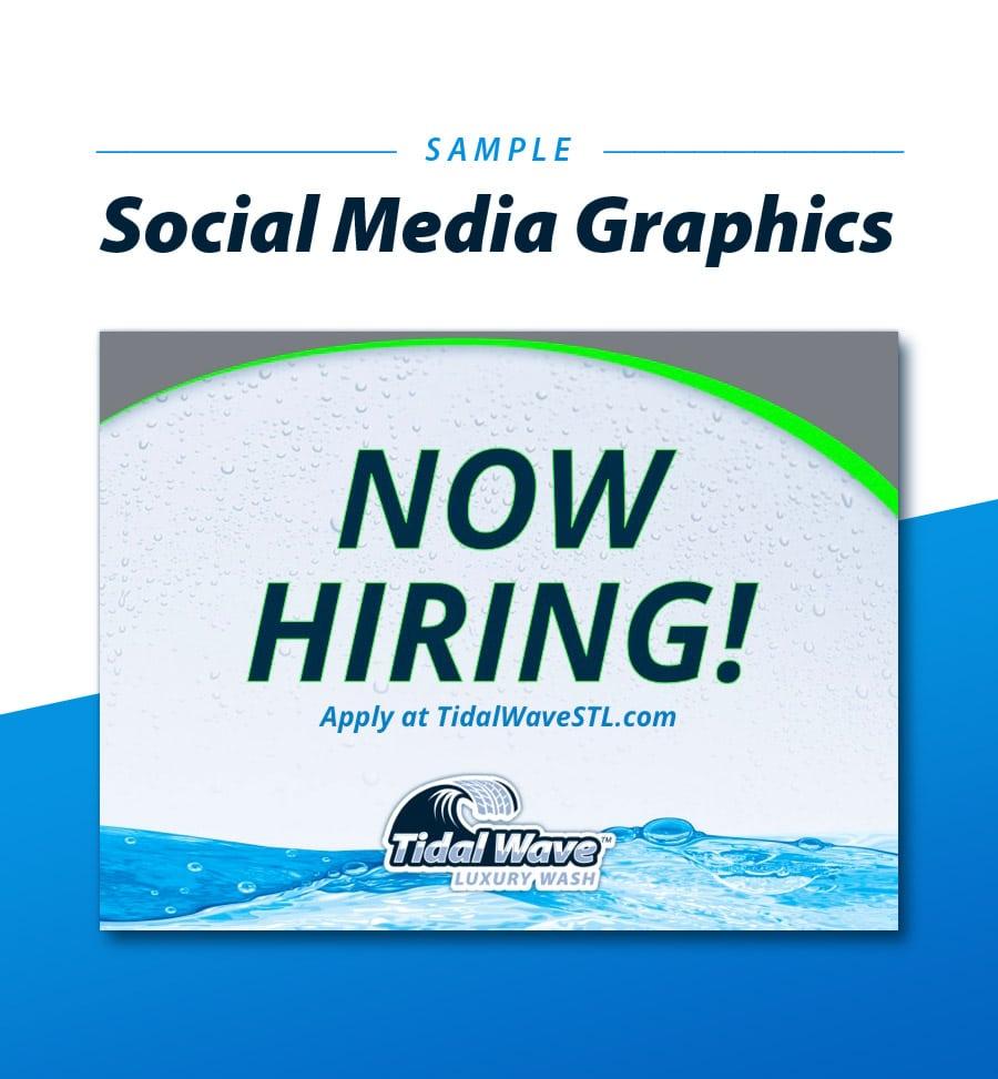 Tidal Wave Social Media graphics branding