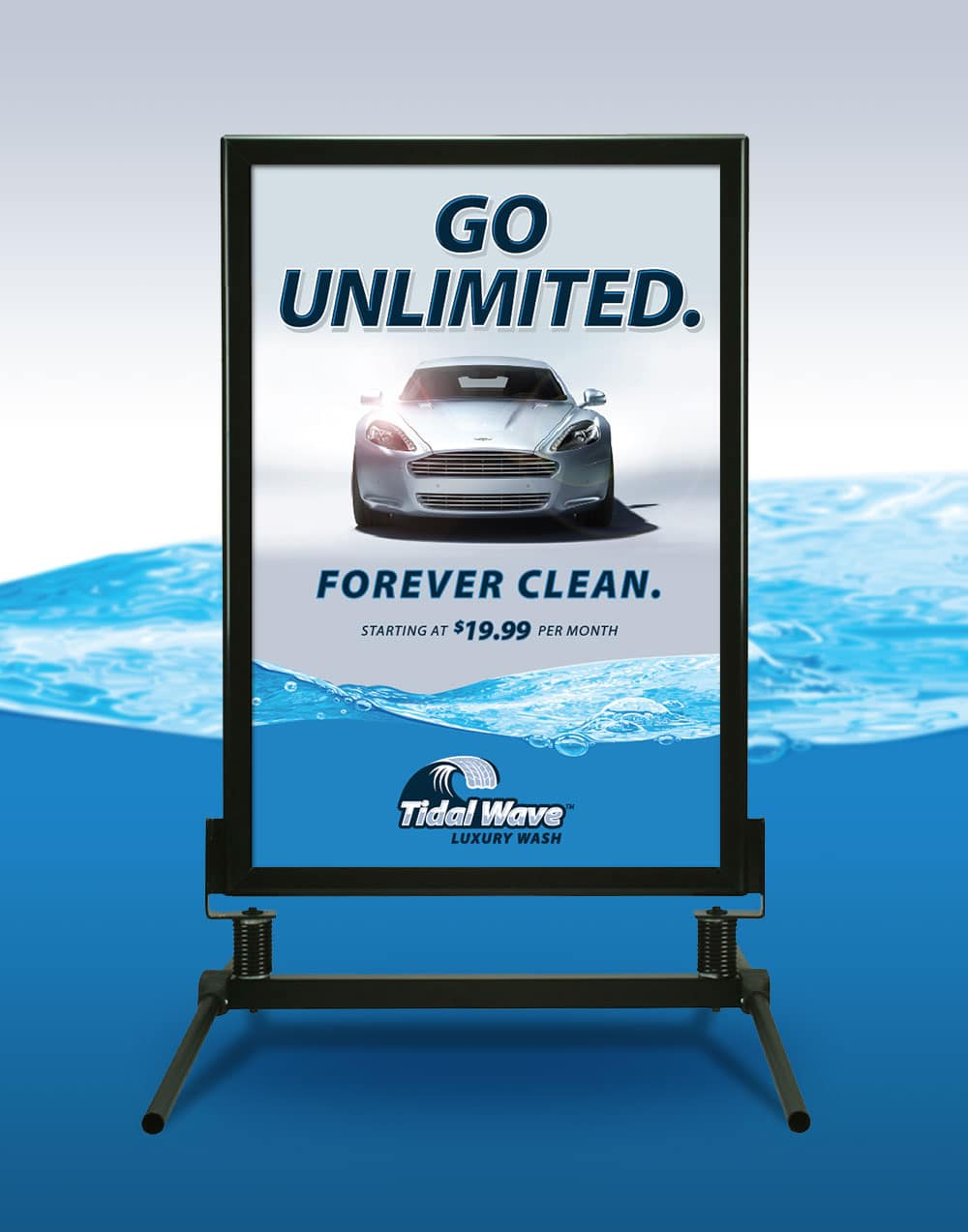 Tidal Wave Unlimited Poster Sign 2