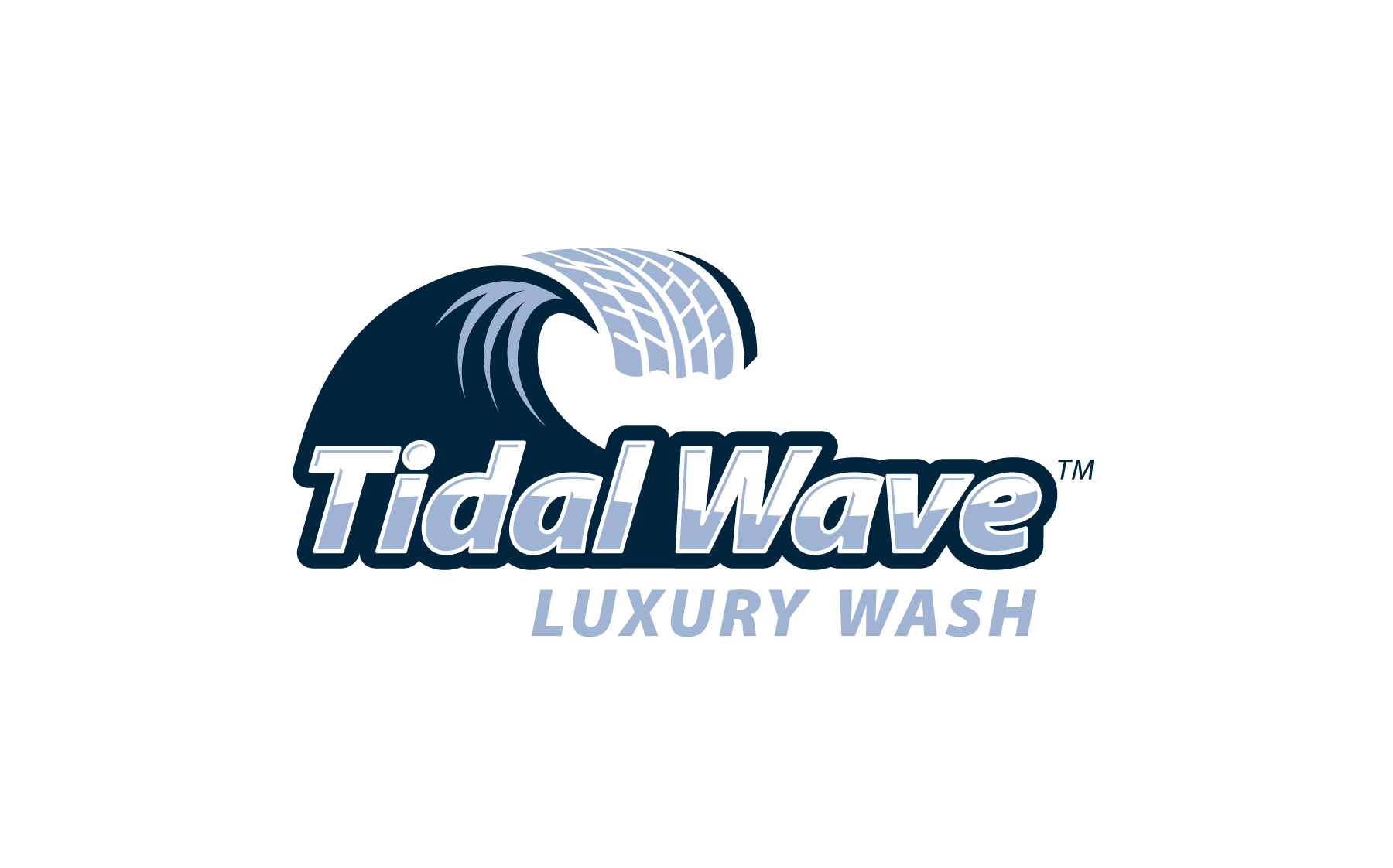 Tidal Wave Luxury Wash logo design