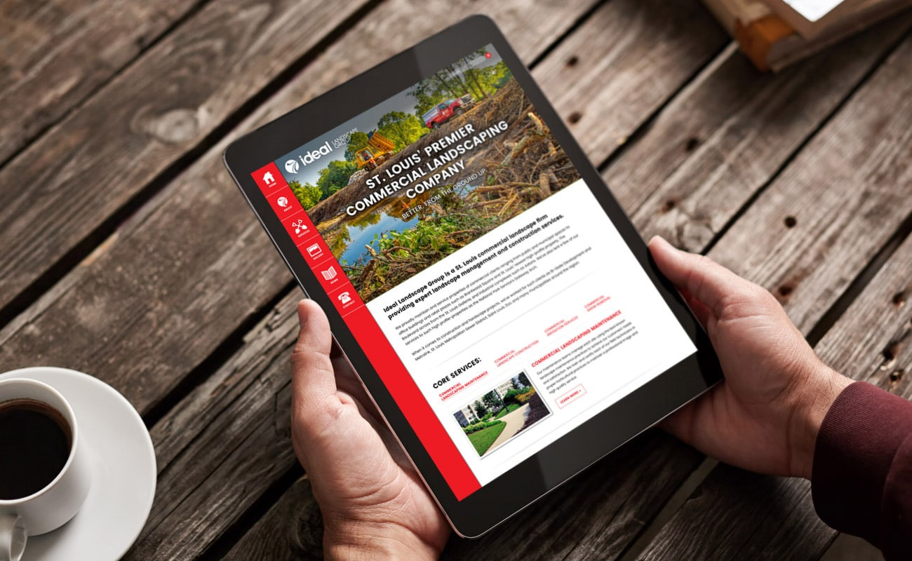 ideal landscape group WordPress website design
