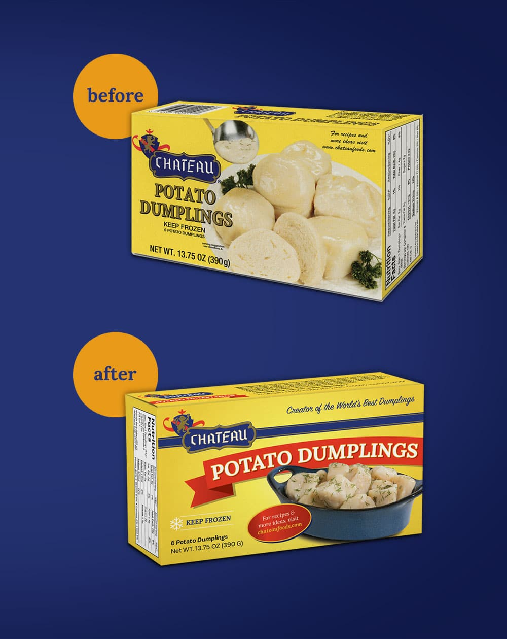 Chateau Potato Box before after