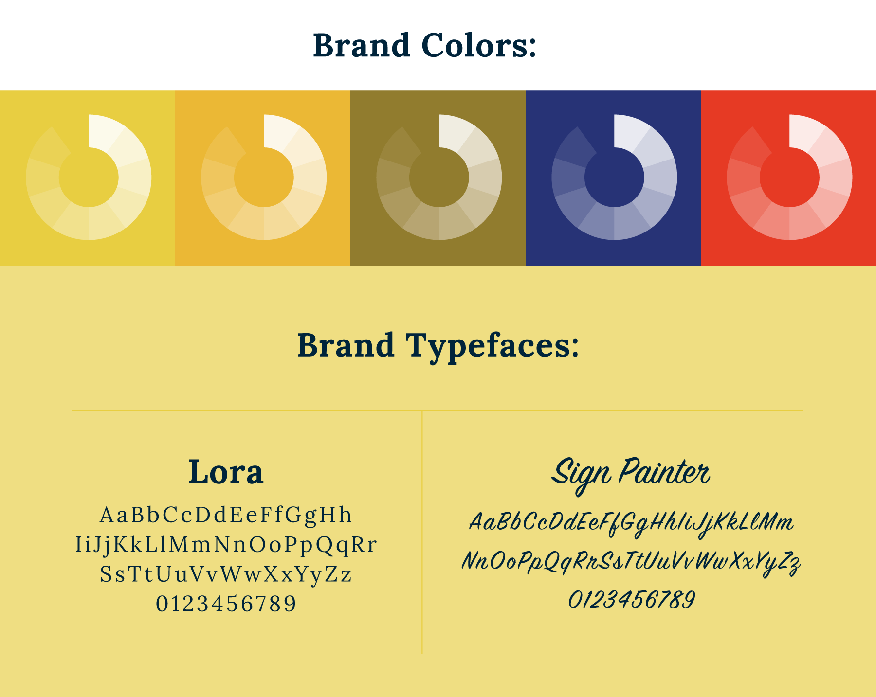 Chateau branding colors & typefaces