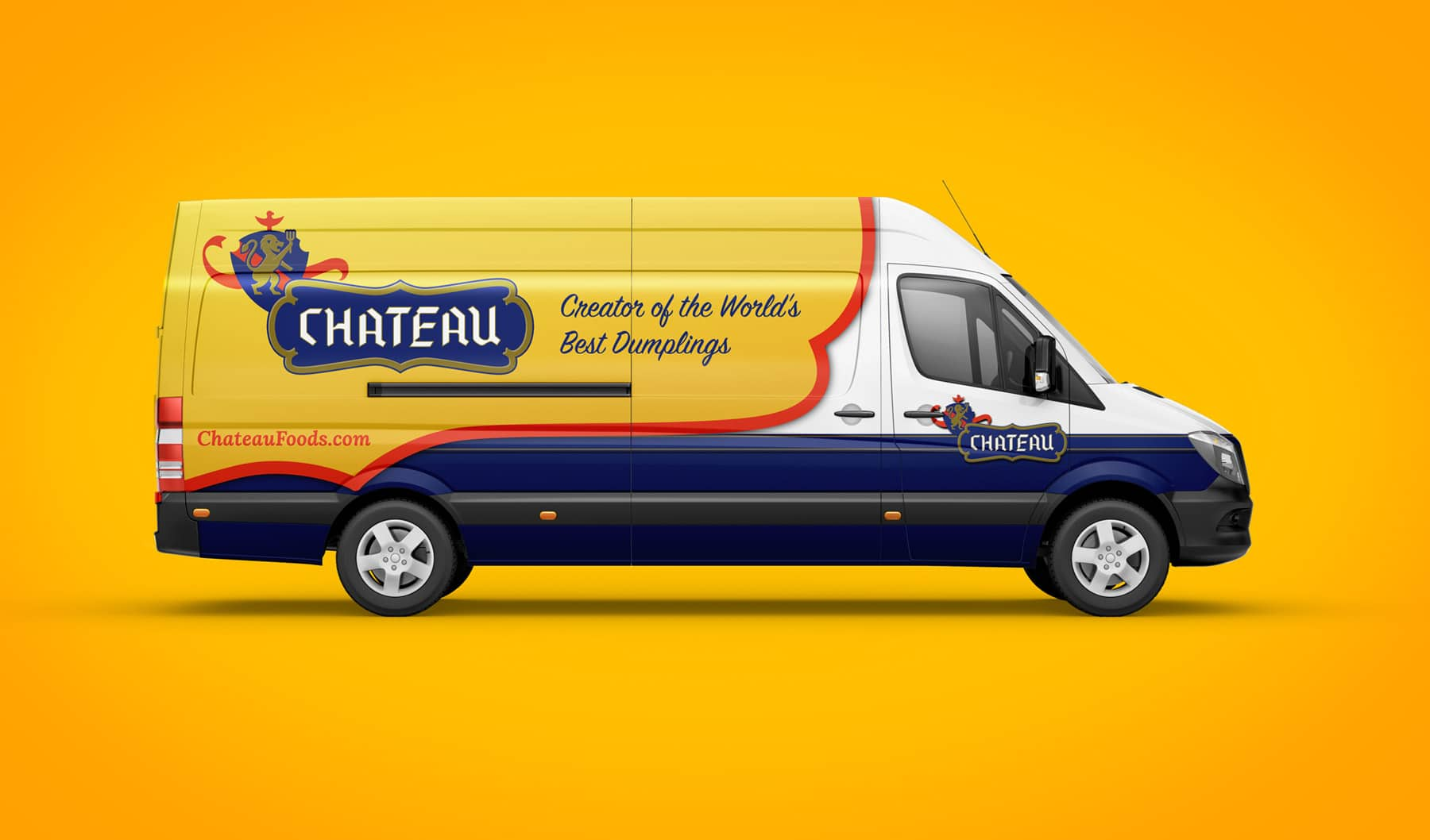 Chateau branding vehicle wrap