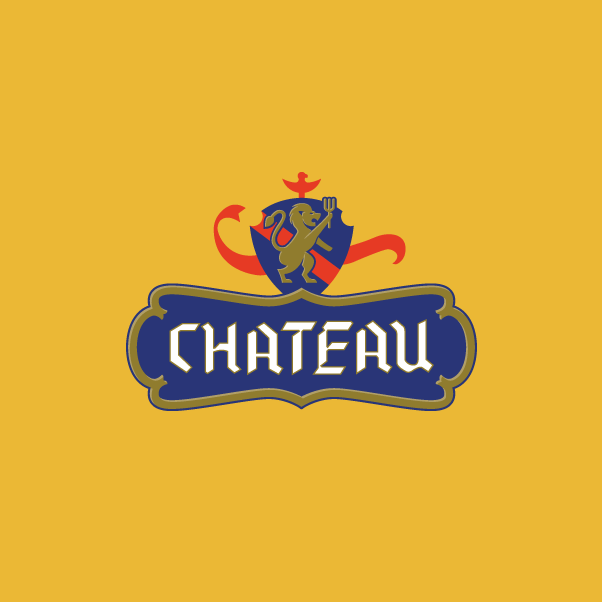 Chateau logo design yellow BG