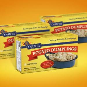 Chateau Potato Dumplings Package Design