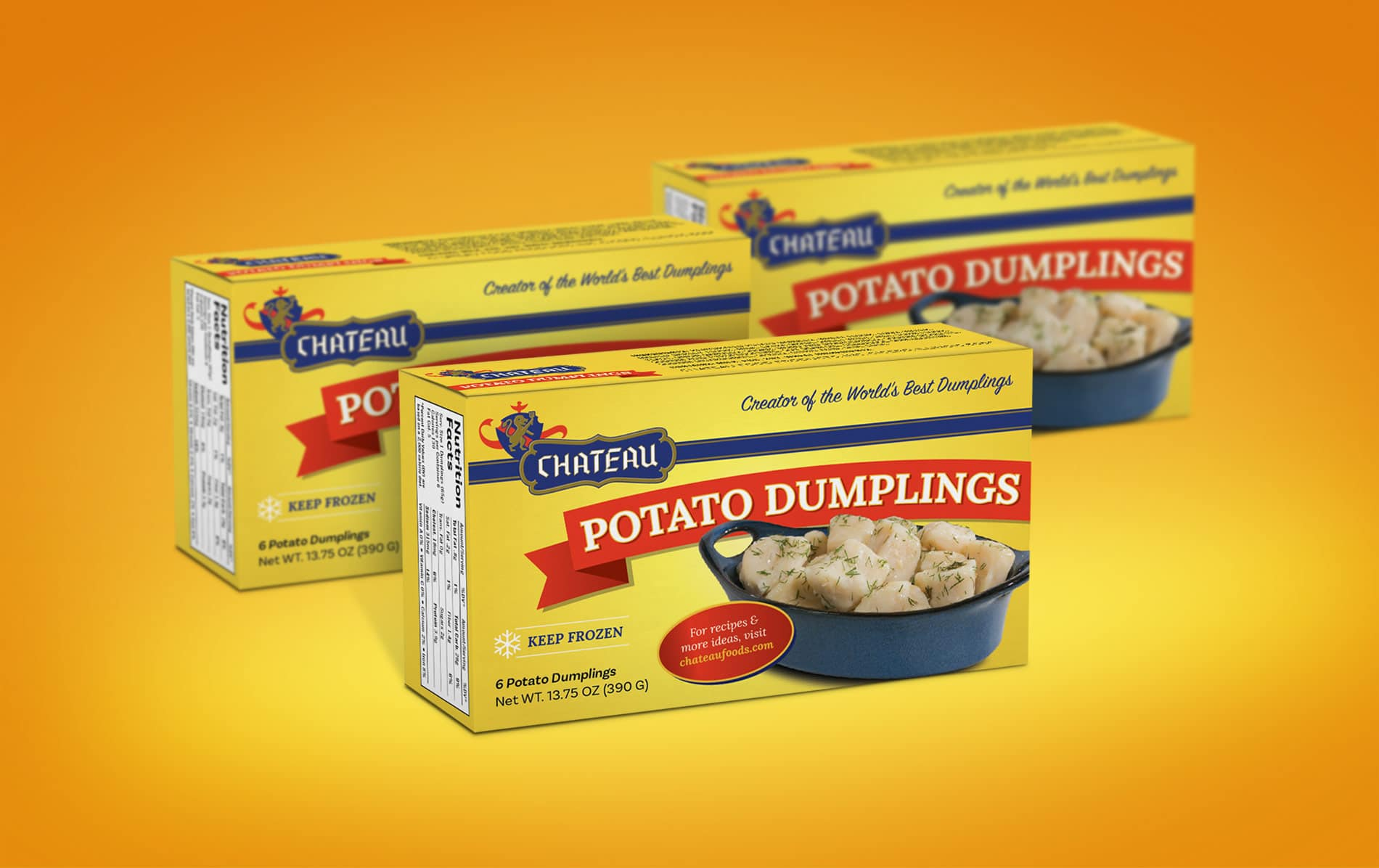 Chateau Potato Dumplings Package Design