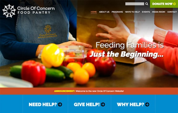 Circle Of Concern website home page