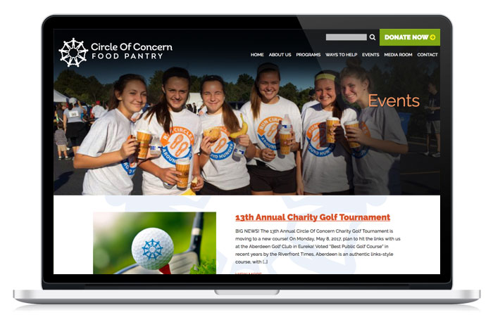Circle Of Concern's Event Web Page