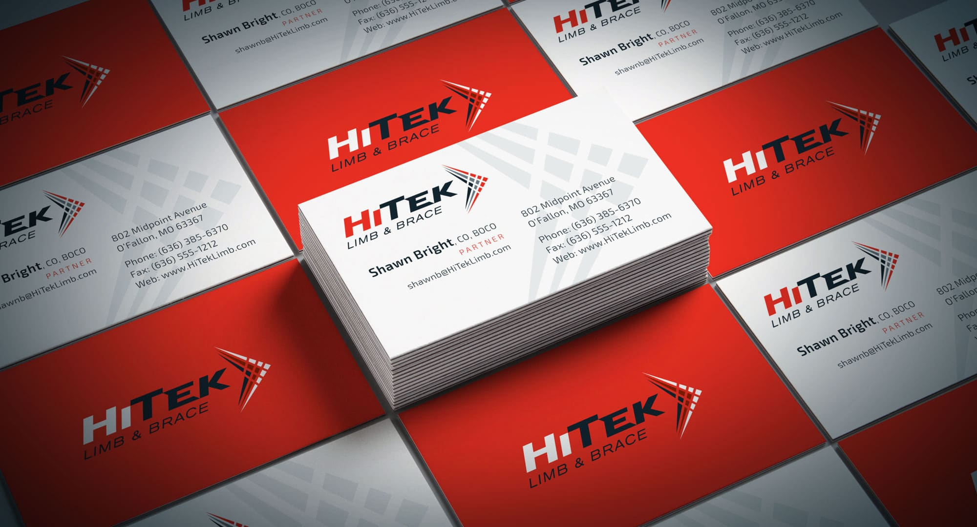 HiTek business card design