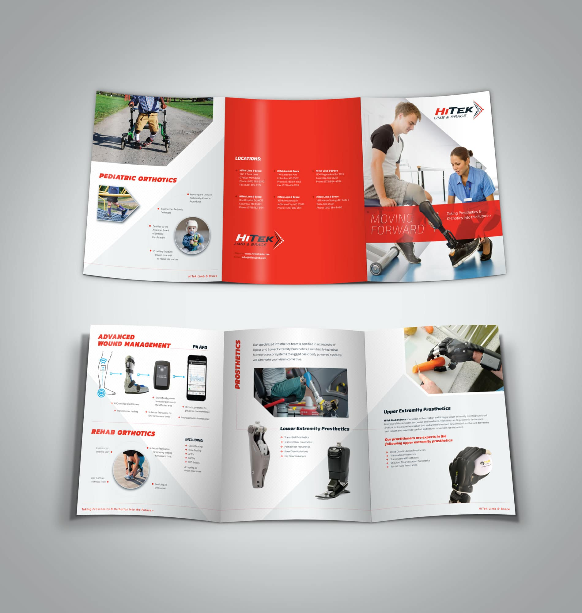 HiTek large trifold brochure design
