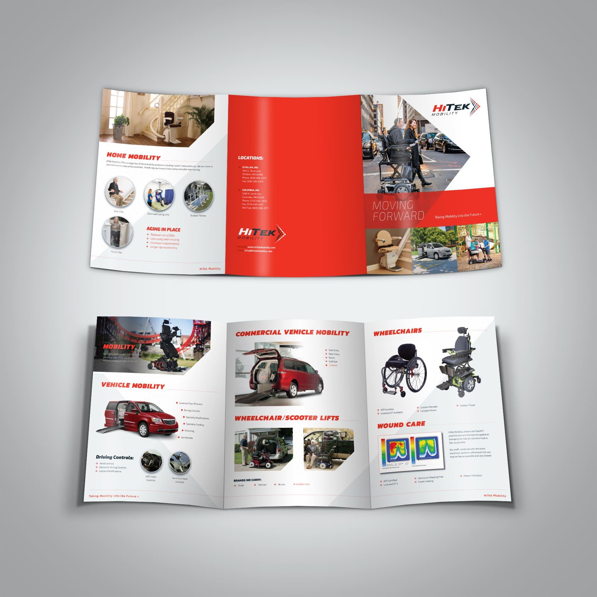 HiTek Mobility Large Trifold Brochure Design