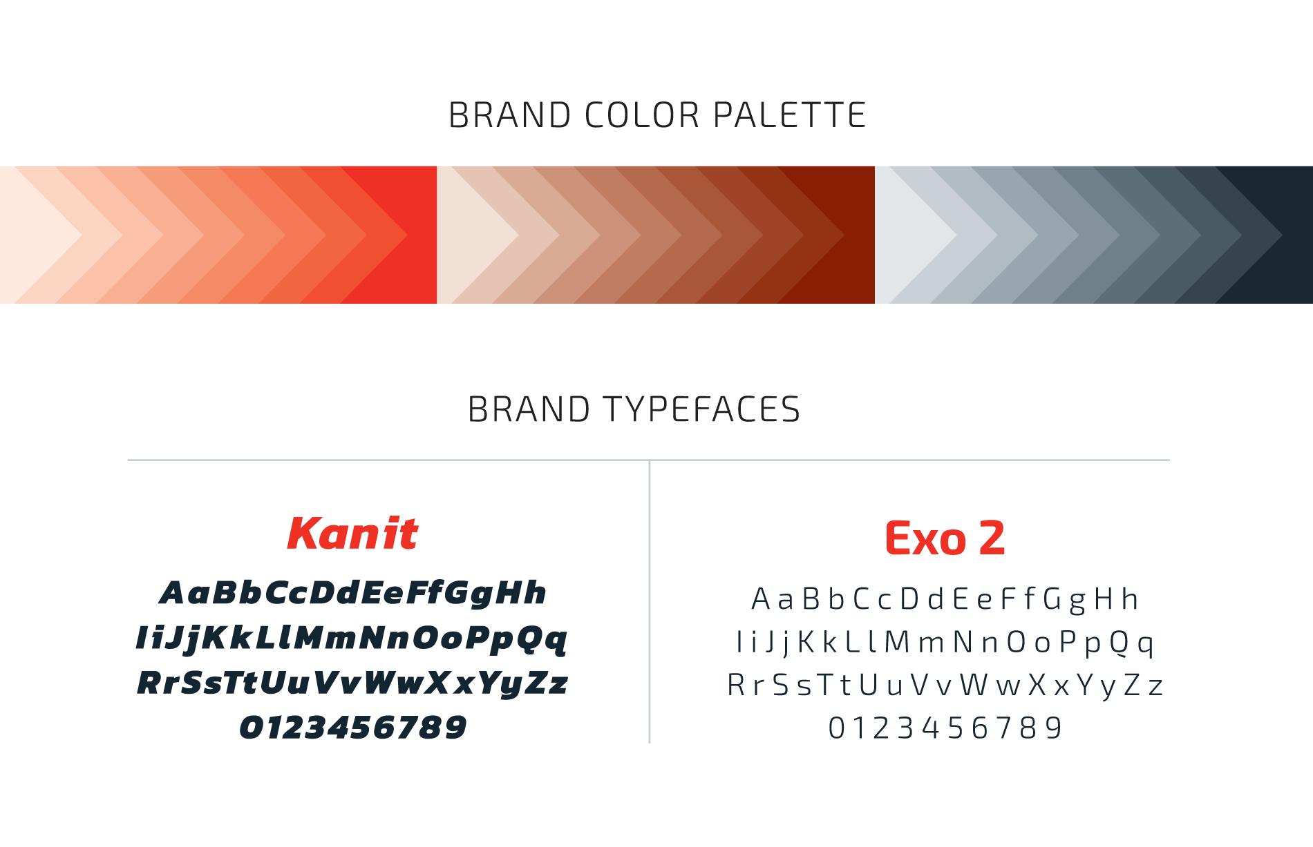 HiTek brand colors and typefaces