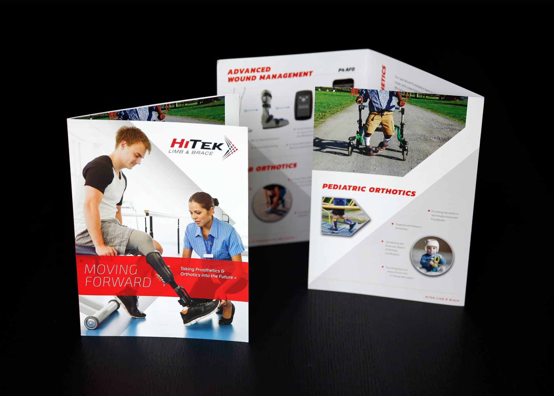 HiTek Limb & Brace Trifold Brochure design