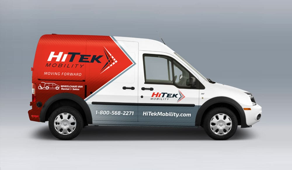 HiTek Mobility vehicle wrap design