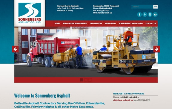 Sonnenberg Asphalt website design