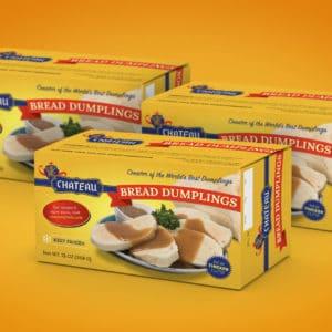 Chateau Bread Dumplings package design