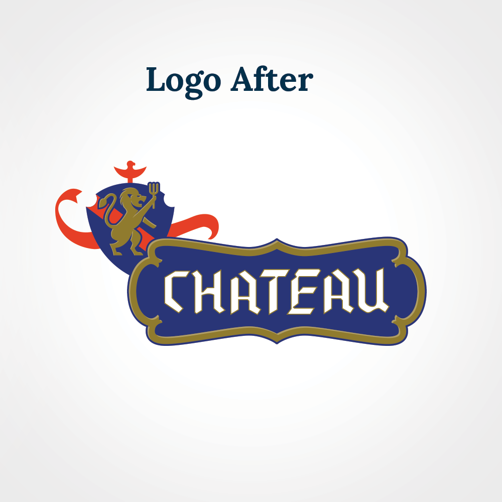 Chateau logo design after