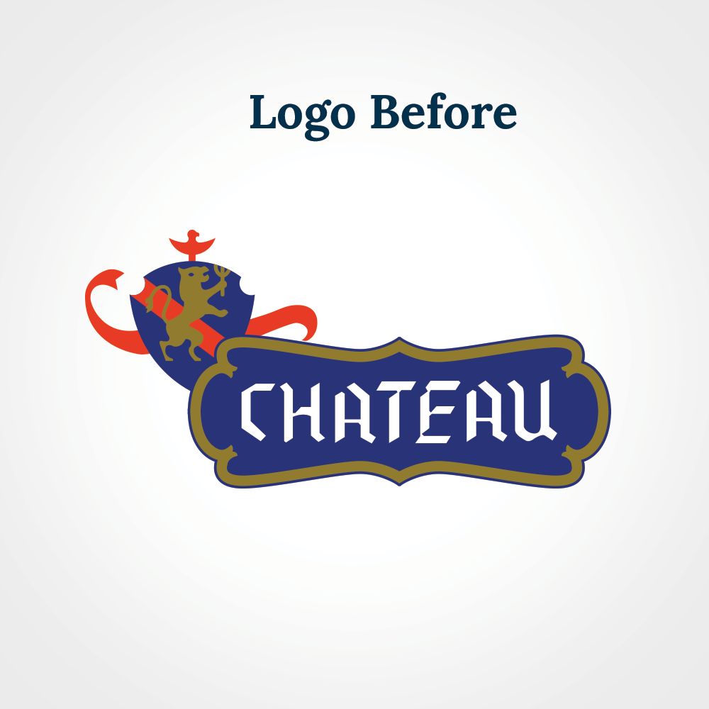 Chateau logo design before